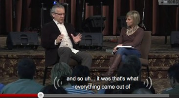 Frame from a Bethel Church DVD