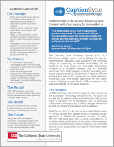 Cal State University Case Study