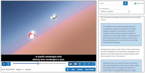 Example picture of the CaptionSync Smart Player with Audio Description and Captioning capabilities enabled