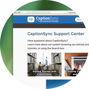 CaptionSync Support Center copy