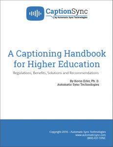 captioning guide for higher education