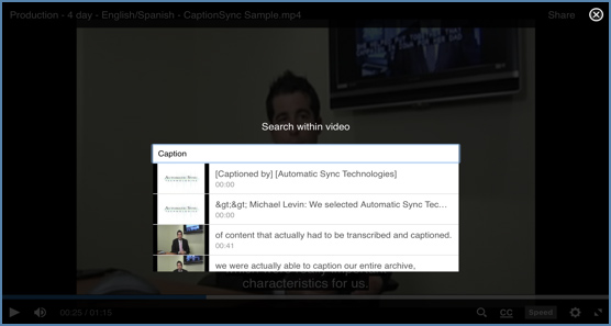 warpwire captioning integration searchable captions