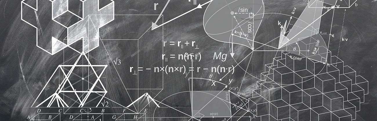 math formulas on chalk board